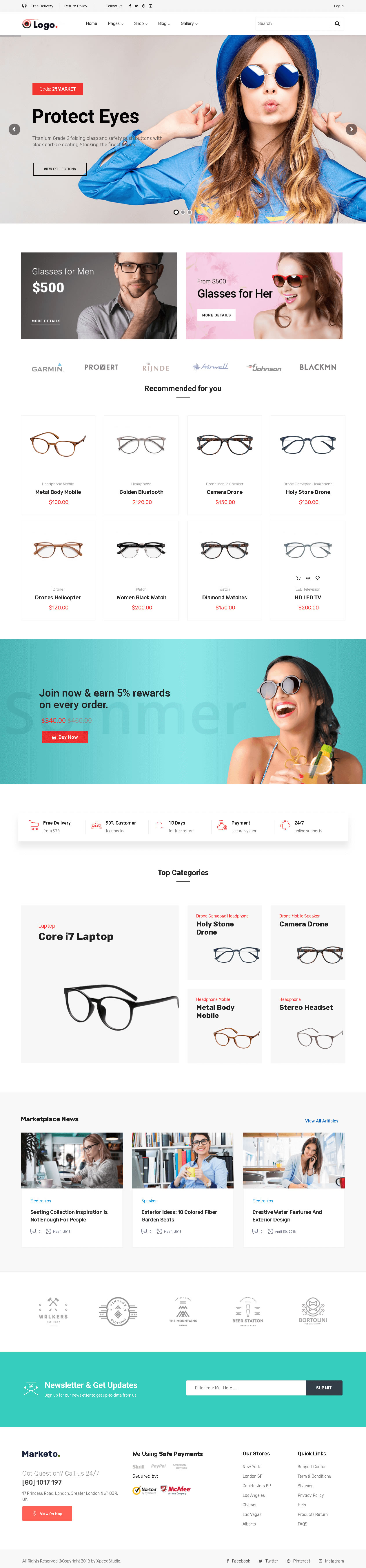Eye Glasses Store Theme - Ready to Install